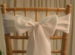 Rental store for CHAIR SASHES WHITE in  NJ