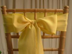Rental store for CHAIR SASHES YELLOW   GOLDS in  NJ