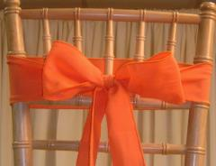 Rental store for CHAIR SASHES ORANGES in  NJ
