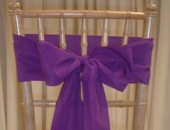 Rental store for CHAIR SASHES PURPLES in  NJ